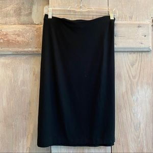 J. Jill Wearever Collection Black Skirt Stretchy L